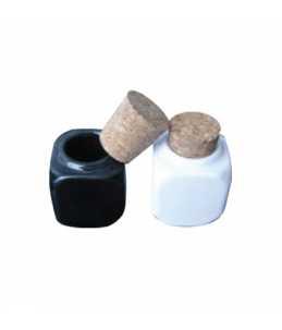 Contenitore in ceramica bianco o nero