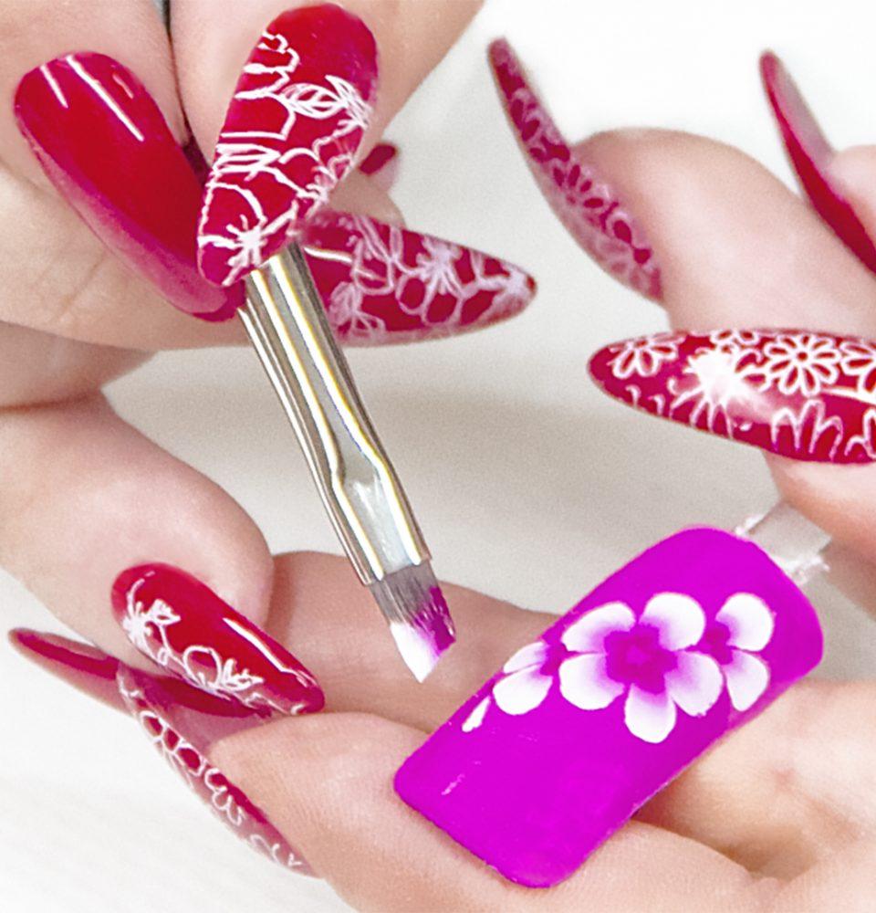Tecnica One stroke nail art