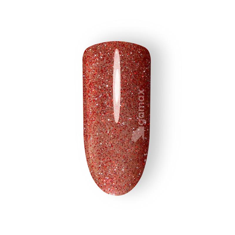 Unghie rosse glitter