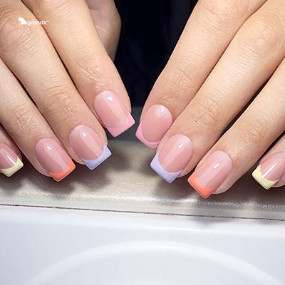 Nail Art French colorato