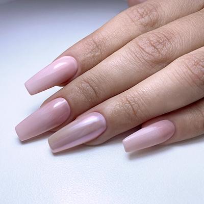 Nail Art effetto specchio rosa