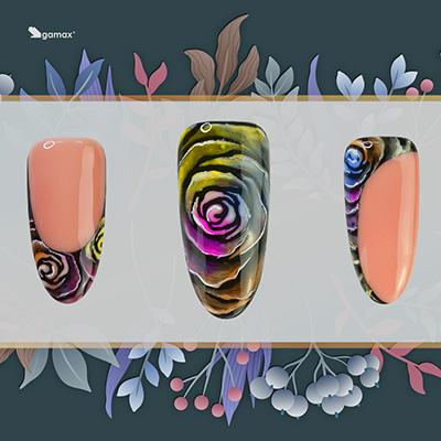 Nail art floreale gamax