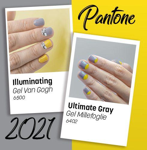 Colori Pantone 2021 Illuminating e Ultimate Gray