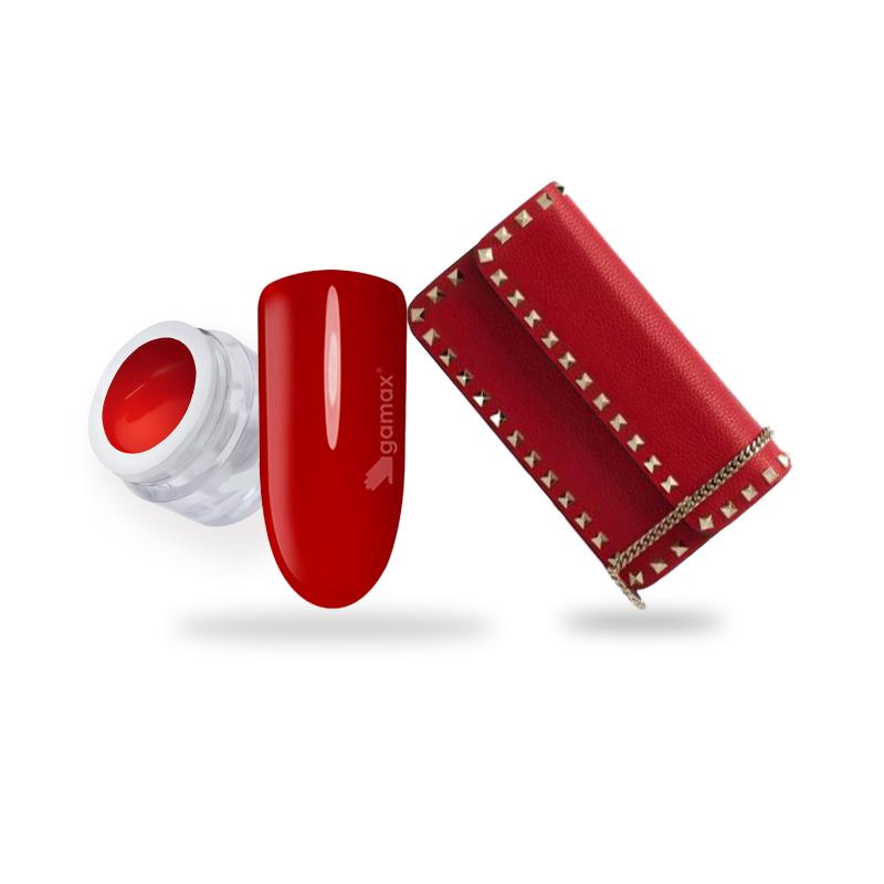 Gel colour Rosso Gamax e borsa Valentino