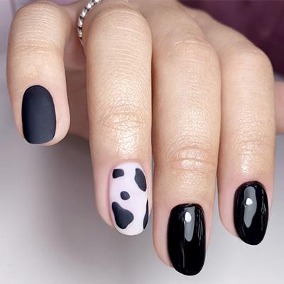 Nail Art unghie mucca