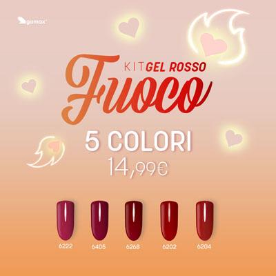 Gel Colour Rosso Fuoco