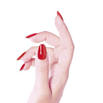 Ricostruzione unghie rosse