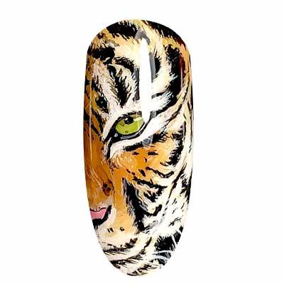 Nail art tigra