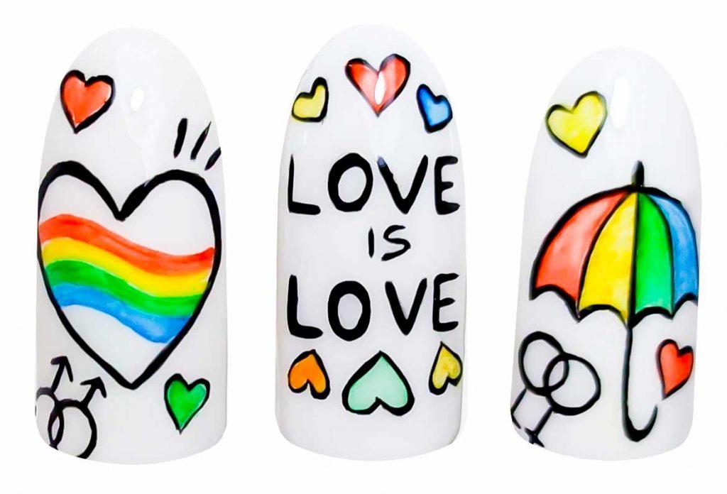 unghie contro l'omofobia