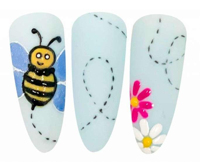 nail art giornata mondiale delle api