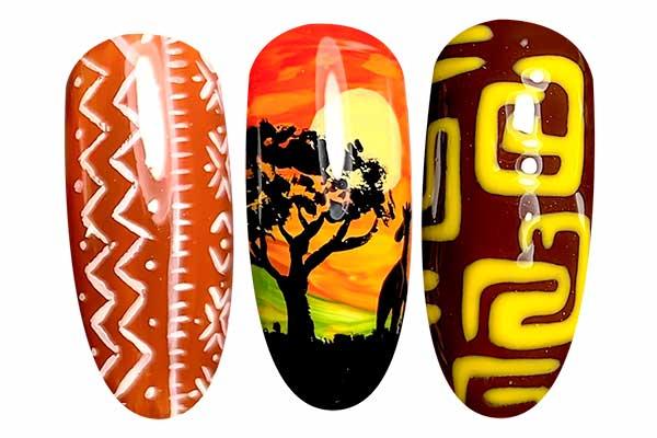 Nail Art giornata mondiale africa