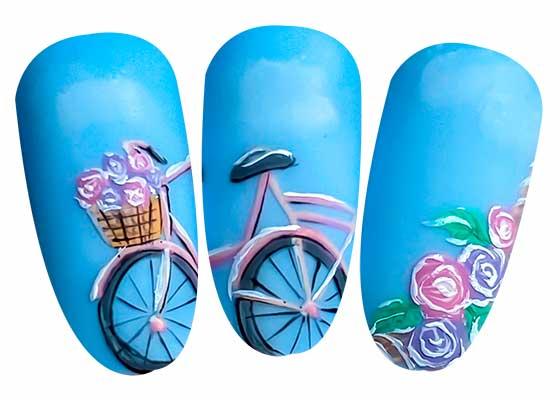 nail art bicicletta