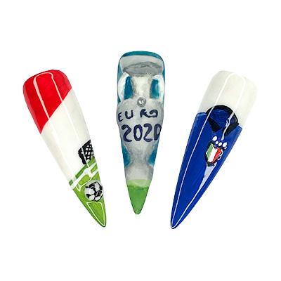euro 2020 nail art