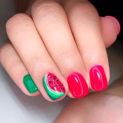 Nail Art Watermelon