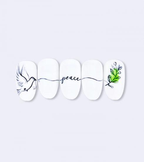 nail art tema pace