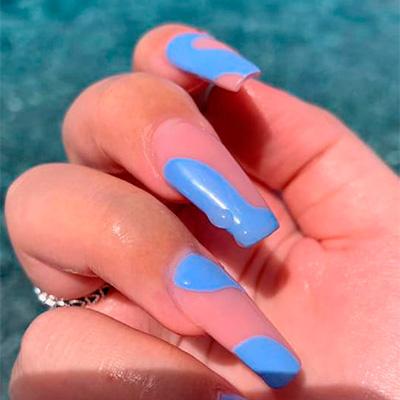 nail art azzurro