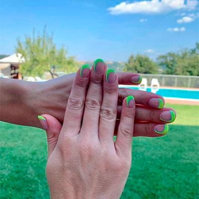 contest nail art verde